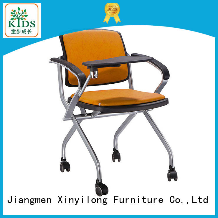 foldable meeting chair with wheel for students