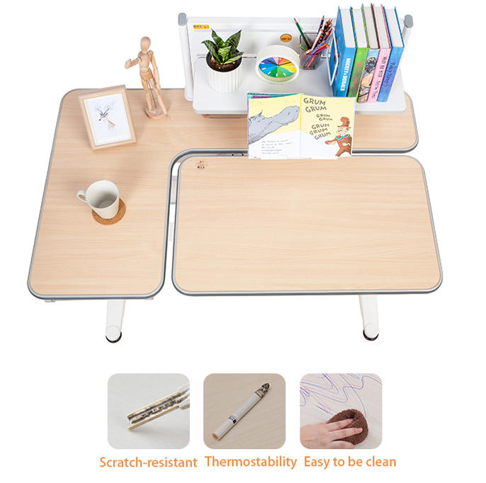 Household Study Table Learning Table Desk Set Height Adjustable Children's Study Table Work Station