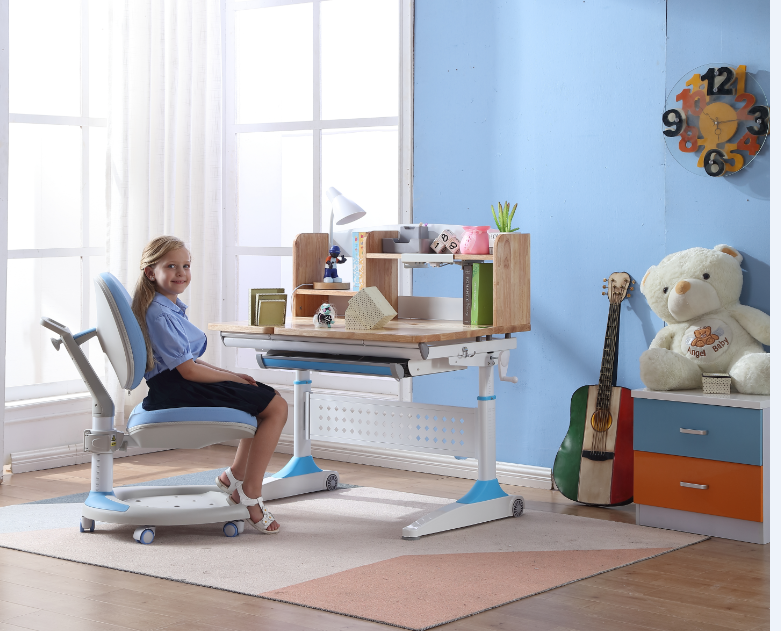 TBCZ table and chair set with storage for school-3