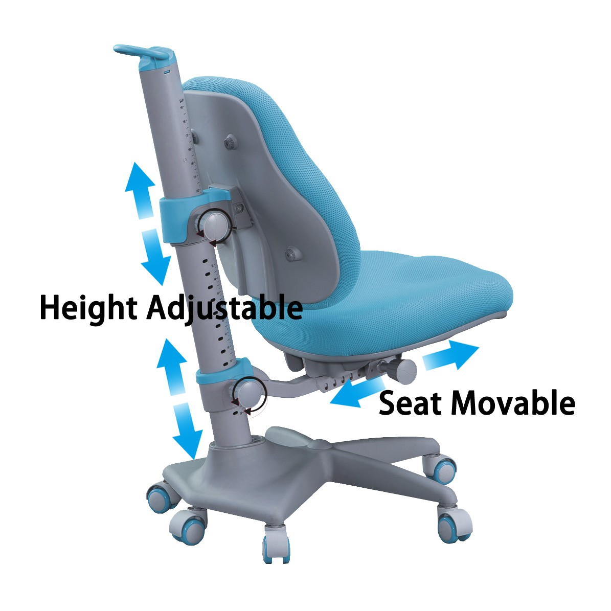 TBCZ study chair for students with wheel for studry room-3