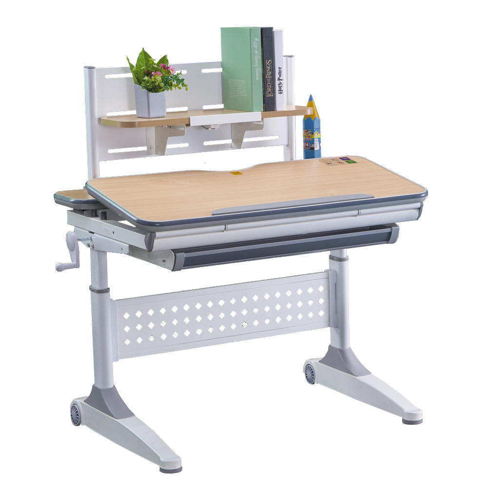 Kids study desk workstation height adjustable function children table