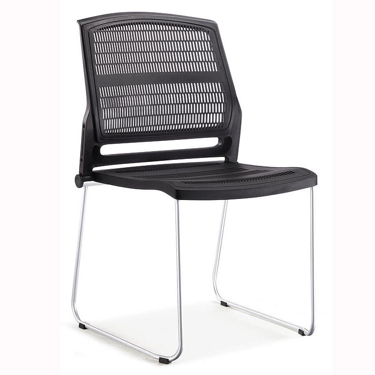 Plastic conference training chair armrest table