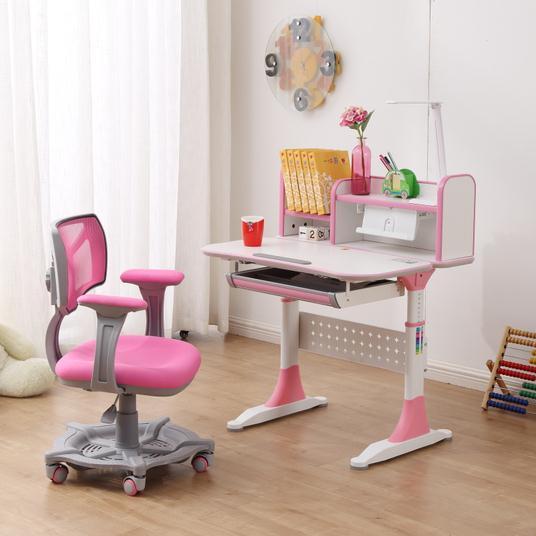 Little kids study desk learning at living room