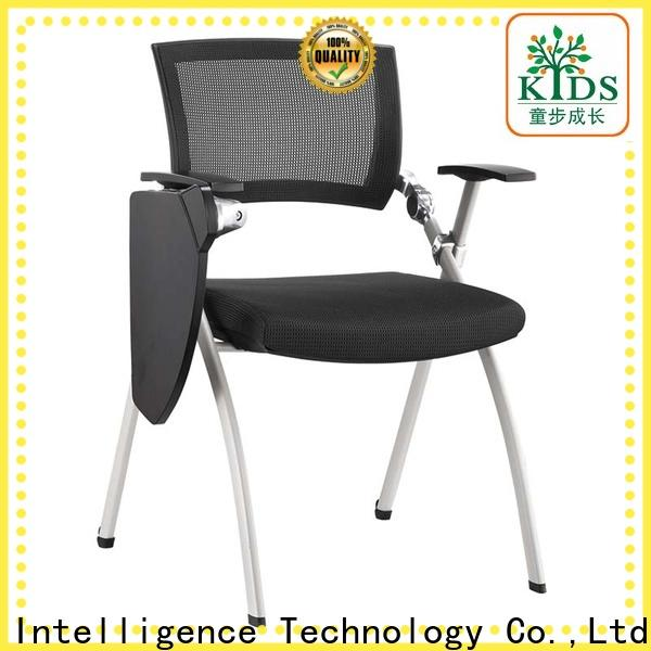 TBCZ foldable plastic dining chairs with wheel for classroom