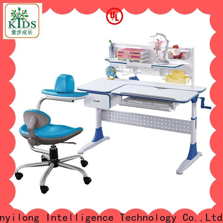 TBCZ adjustable height children's desk with storage for school