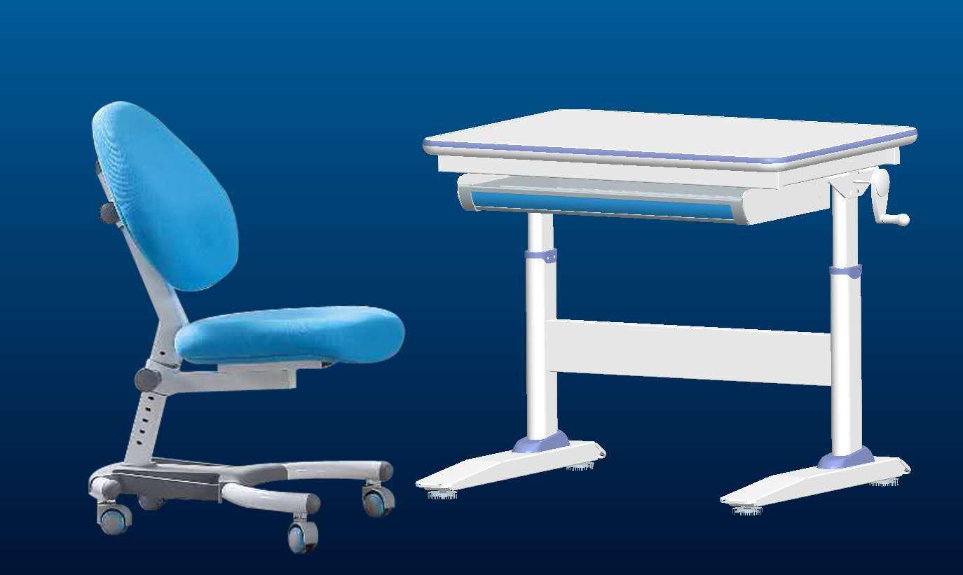Little  height adjustable children table home study desk