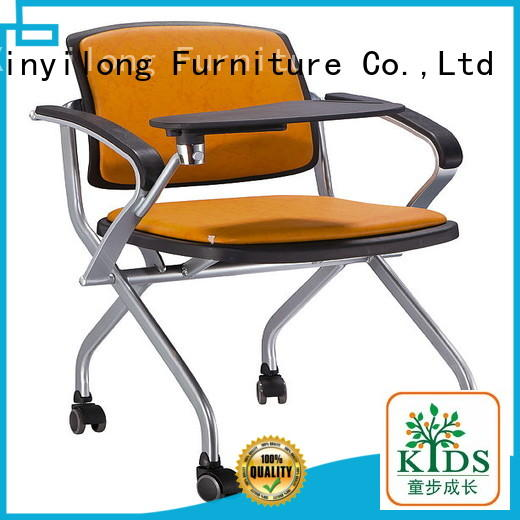 Xinyilong Furniture comfortable kids plastic chairs with wheel for college