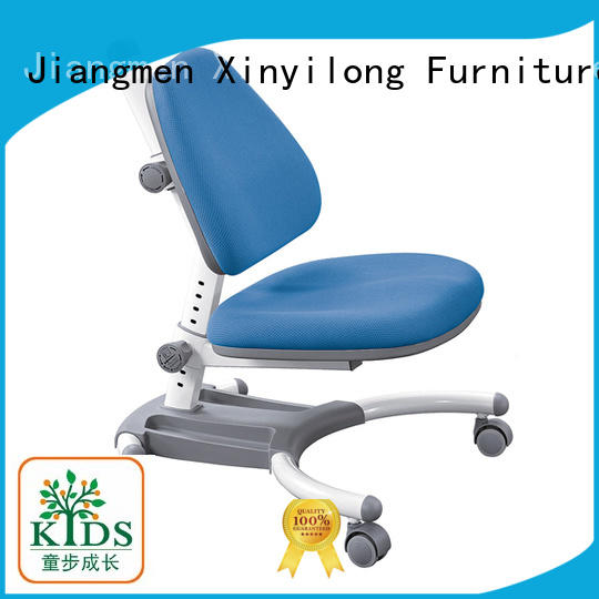 Xinyilong Furniture durable height adjustable kids chairs with wheel for studry room