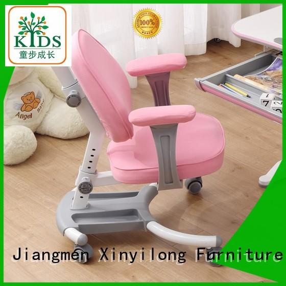Xinyilong Furniture children table chair with wheel for studry room