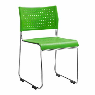 Plastic Stackable Chairs with Sled Base and Air-Vent Back & Seat