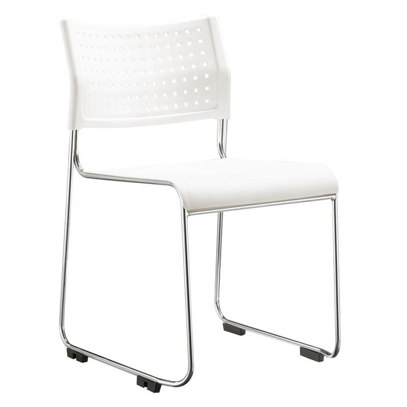 foldable dinning chair with wheel for lecture-3