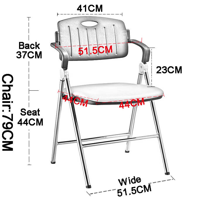 stable dinning chair with wheel for lecture-4