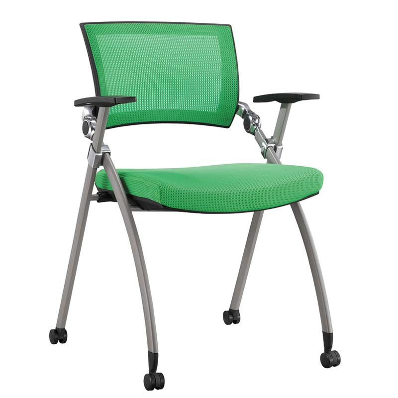 TBCZ foldable plastic dining chairs with wheel for classroom-1
