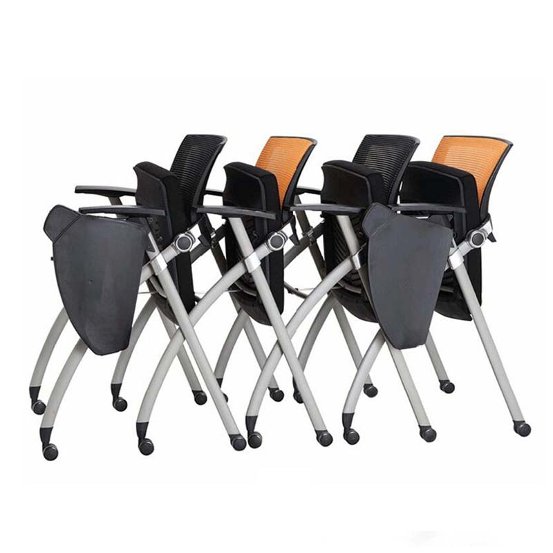 TBCZ foldable plastic dining chairs with wheel for classroom-3