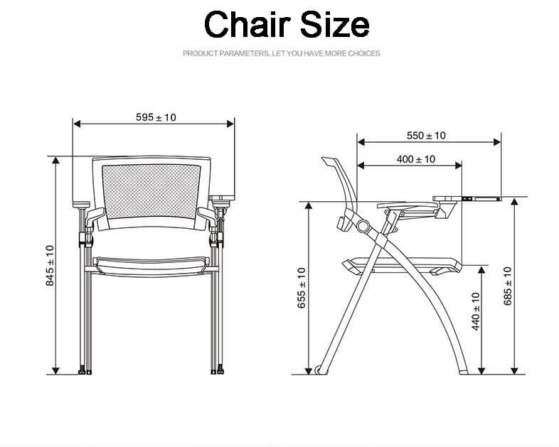 comfortable training room chair high quality for classroom-4