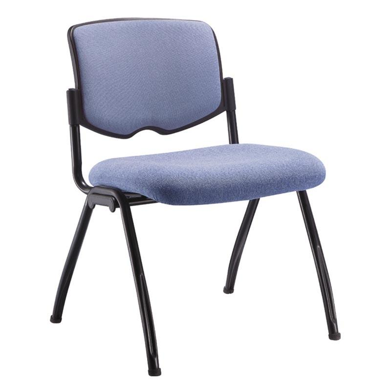 Versatile Nesting Student Chair with Padded Fabric Seat and Back