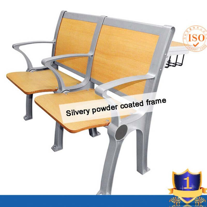 Aluminum student chair table college furniture folding student chair for classroom