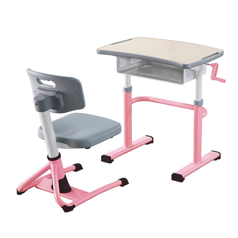 School Student Desk and Chair with height adjustable for growing children