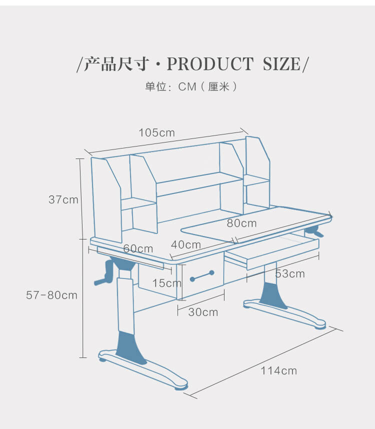Xinyilong Furniture children study table with storage for home-1