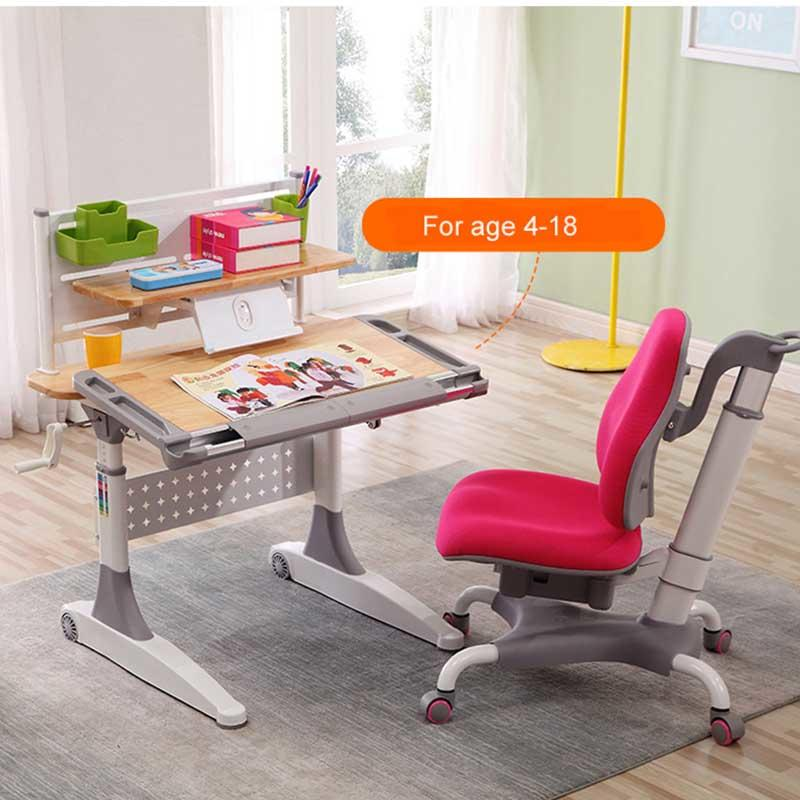 Height adjustable study table ergonomic Kids Drawing Table
