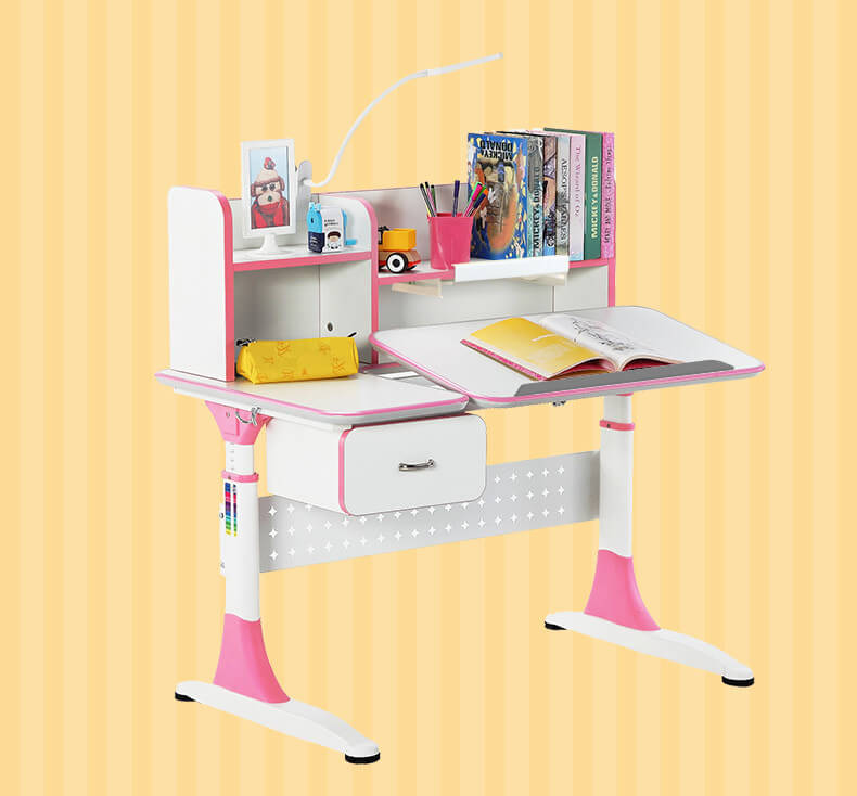 professional adjustable height children's desk with storage for kids-5