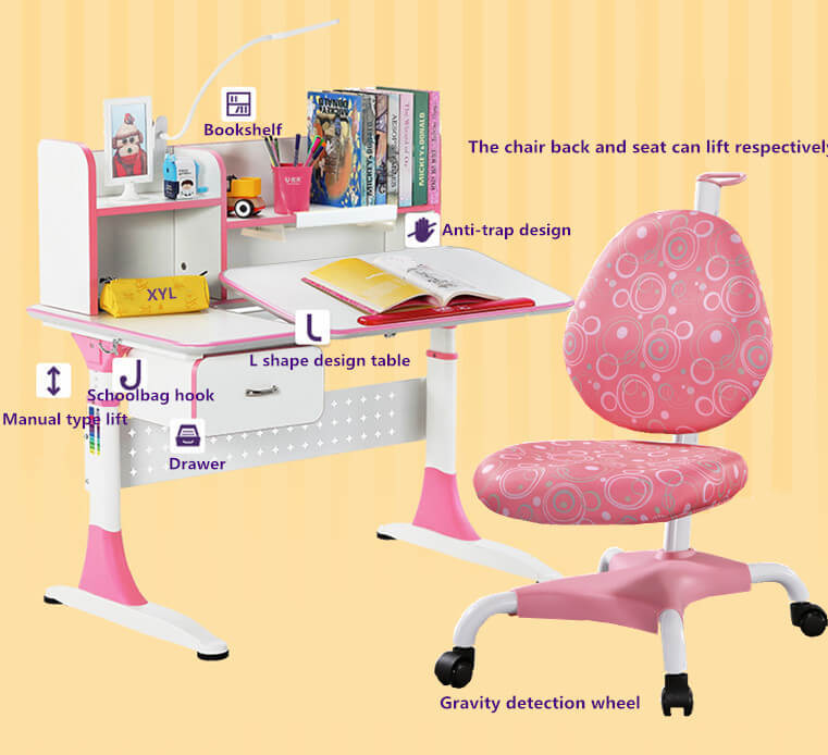 professional adjustable height children's desk with storage for kids