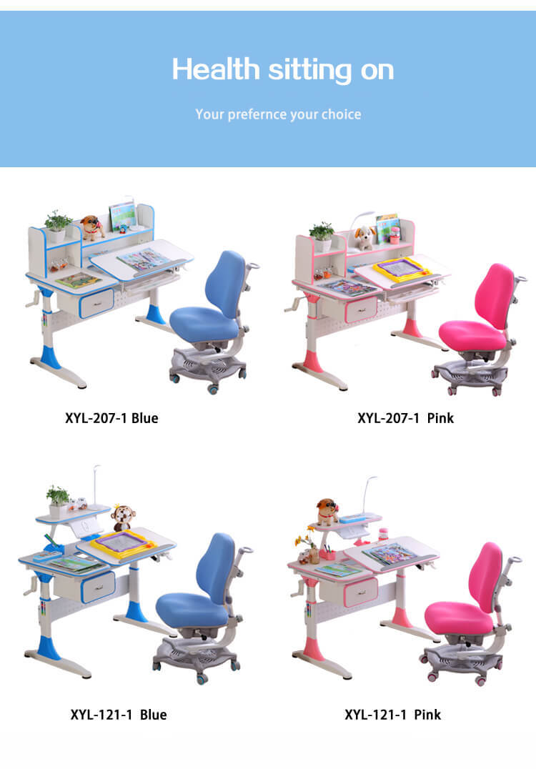storage kids study table and chair Xinyilong Furniture Brand