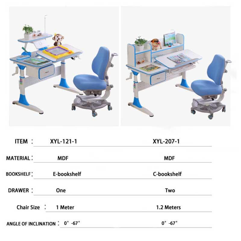 comfortable adjustable height children's desk high quality for kids