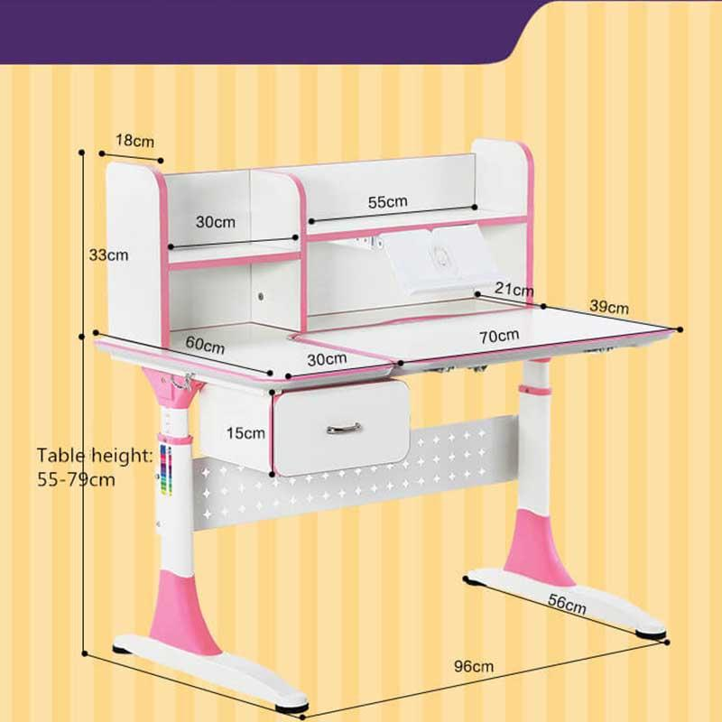 professional adjustable height children's desk with storage for kids-1
