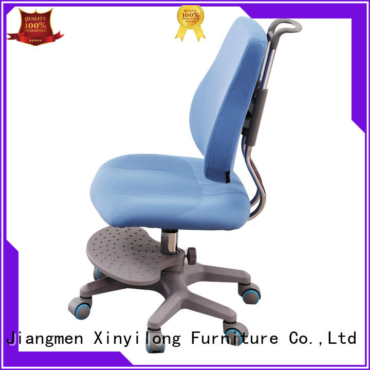Xinyilong Furniture stable children study chair with wheel for kids