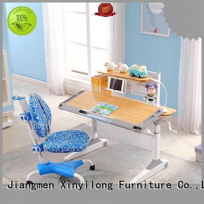 study table furniture design reading bamboo wooden Xinyilong Furniture Brand
