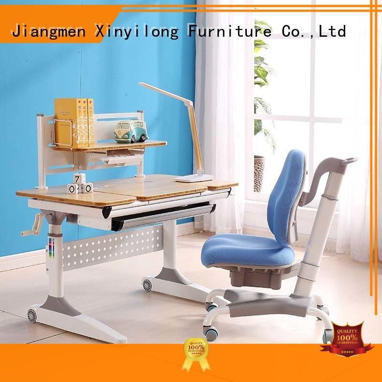 study table furniture design tilting bamboo Xinyilong Furniture Brand study table and chair