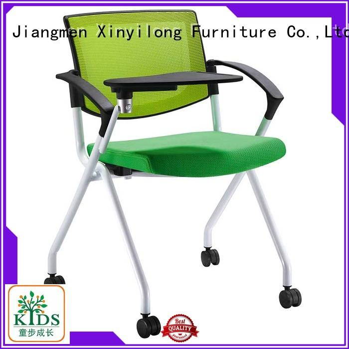 Xinyilong Furniture dinning chair with wheel for lecture