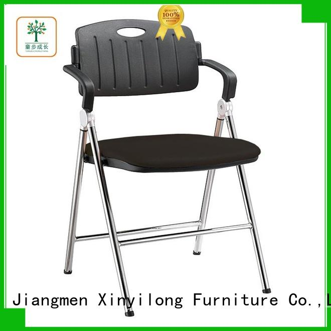 Folding Chair National Public Seating with plastic back and padded seat
