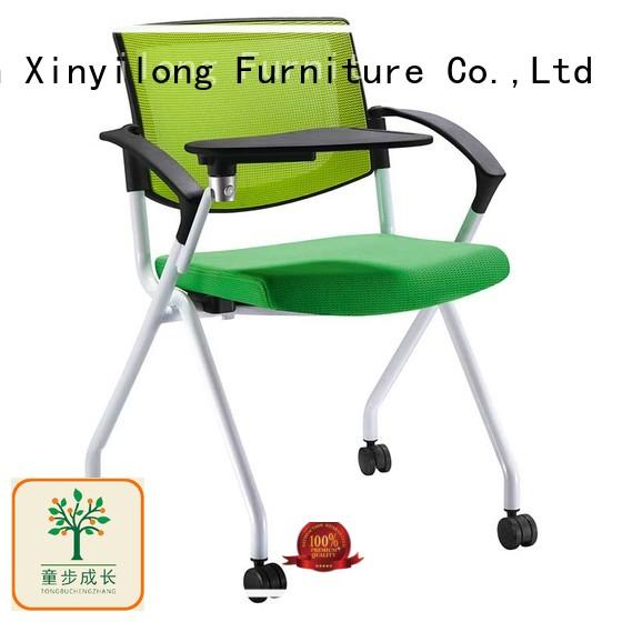 Office Star Breathable Flexible Mesh Back Folding Nesting Learniture Chair with Padded Fabric Seatand tablet