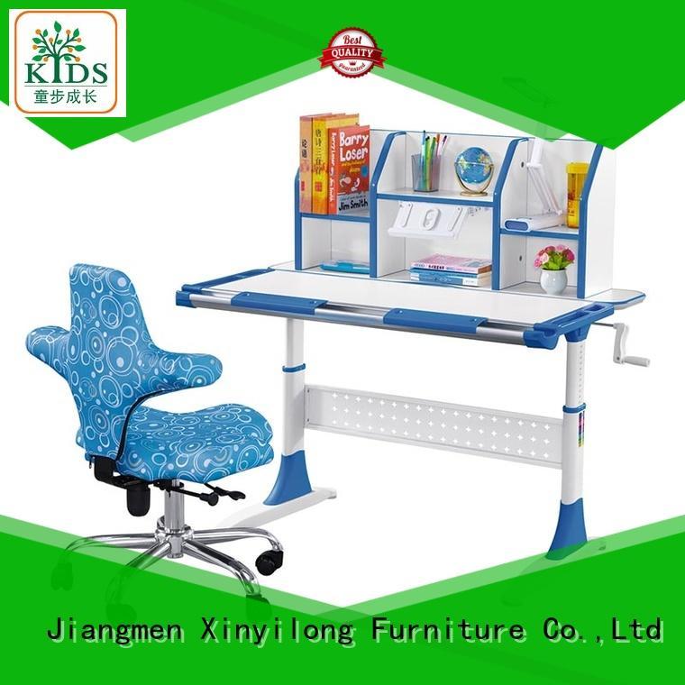 Ergonomic Design Children Desk with Height Adjusting and Tilting Desktop
