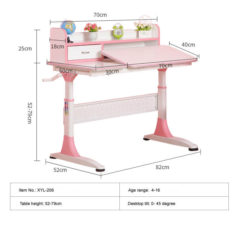 Xinyilong Furniture ergonomic study desk high quality for kids-1