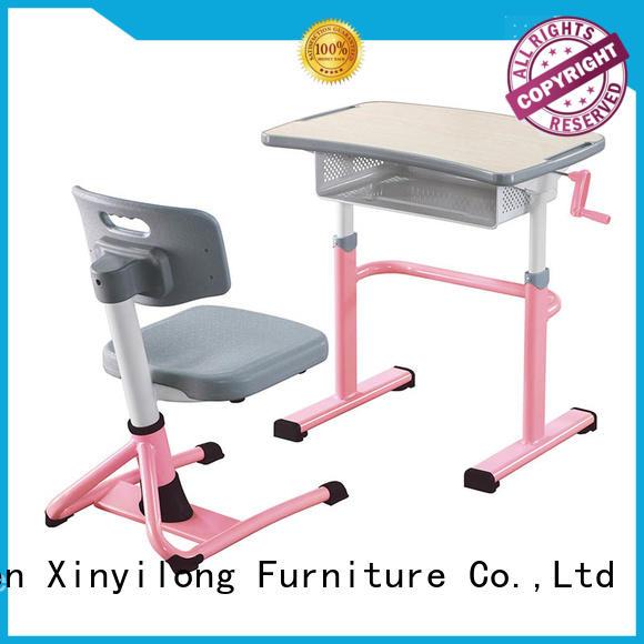 Xinyilong Furniture pedestal vintage school desk and chair onlion