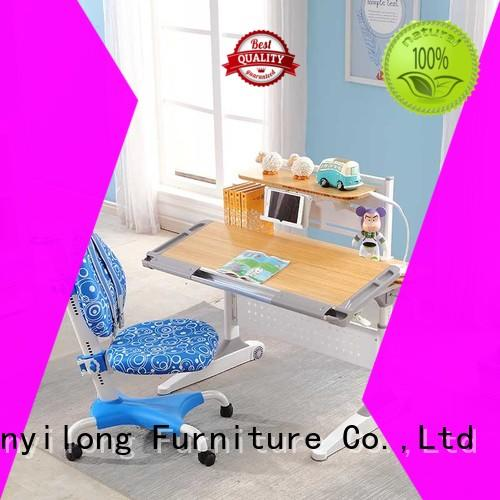 storage wooden station OEM study table and chair Xinyilong Furniture