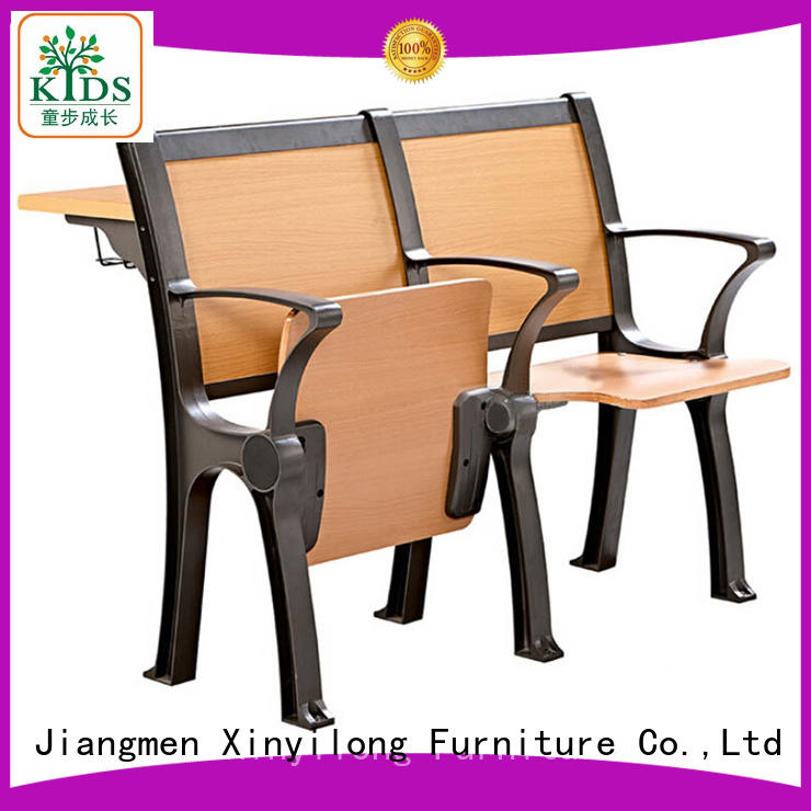 Aluminum student chair table college furniturefolding student chair for classroom
