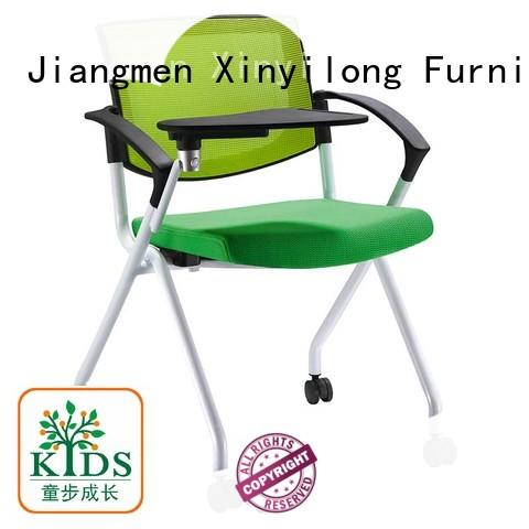 Xinyilong Furniture plastic dining chairs with wheel for students