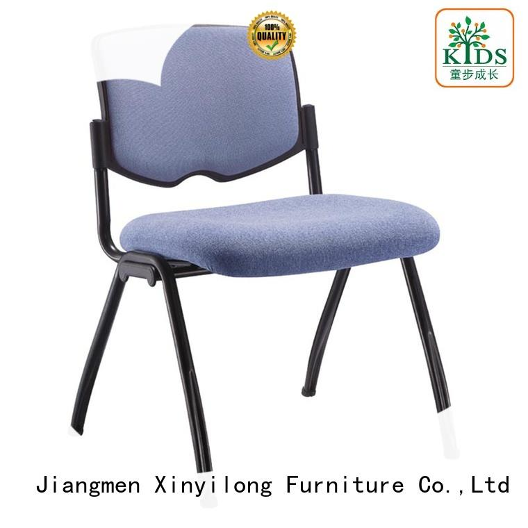 foldable plastic dining chairs with wheel for lecture