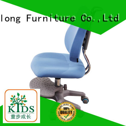 stable children study chair with wheel for kids