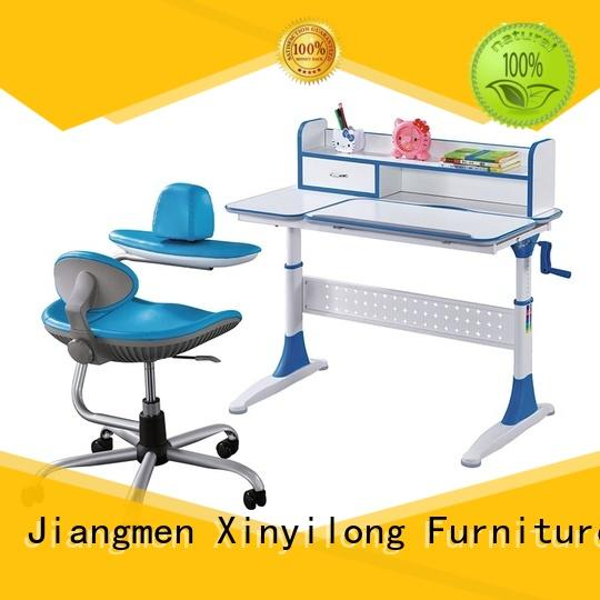Xinyilong Furniture Brand top desktop mdf children study table and chair