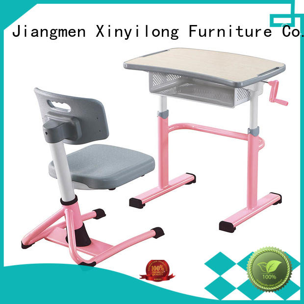 Xinyilong Furniture Brand rows ladder childrens school desk and chair set classroom
