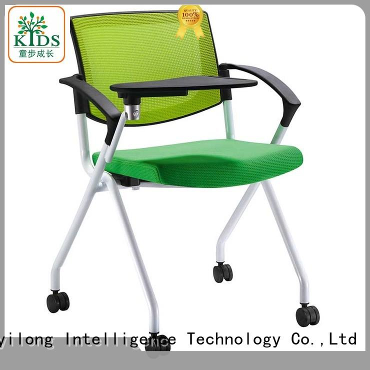 TBCZ foldable stackable chair with wheel for lecture