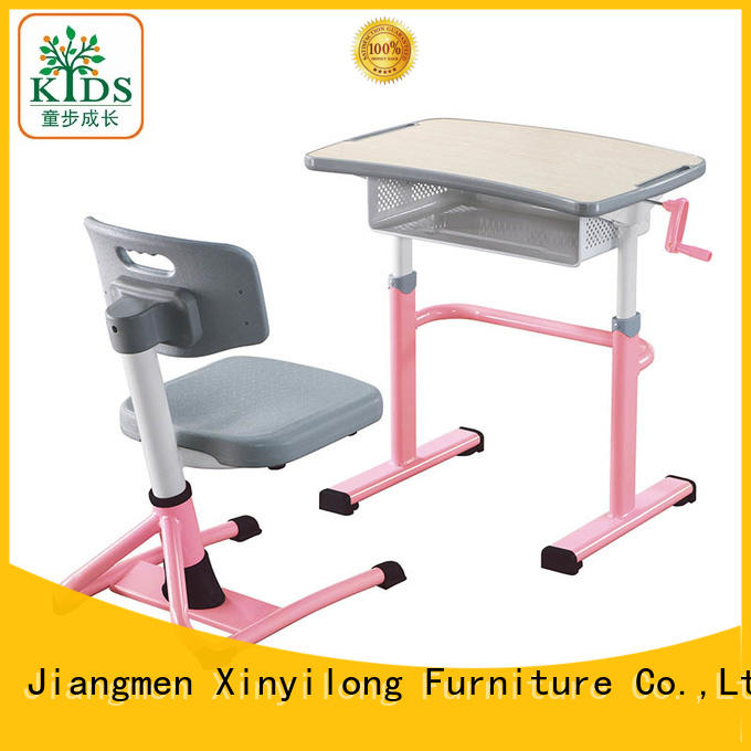 Xinyilong Furniture foldable kids desk and chair set factory for classroom