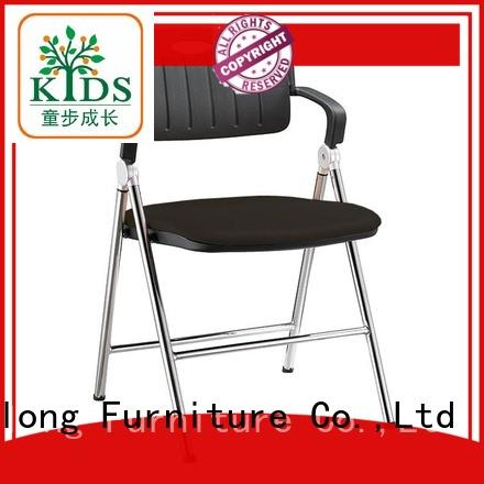 foldable stackable chair with wheel for students