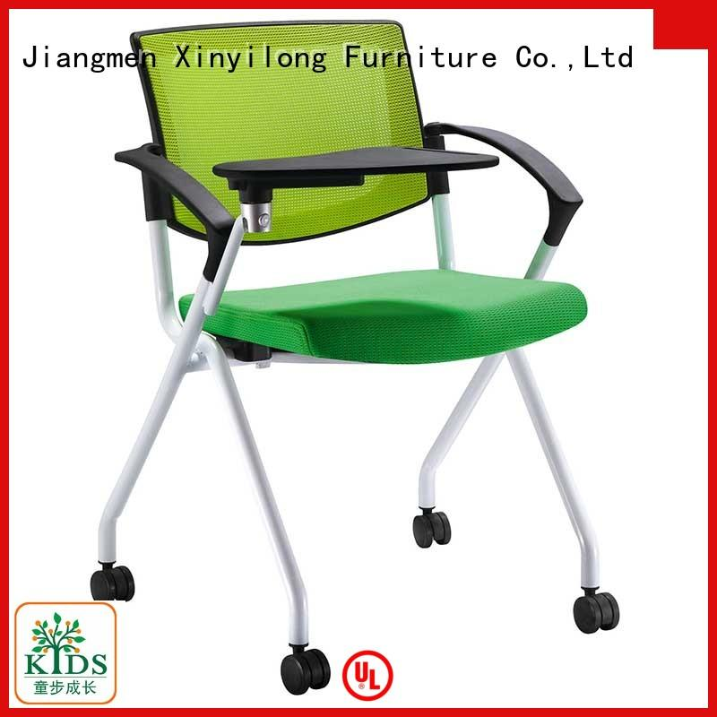 foldable meeting chair with wheel for college