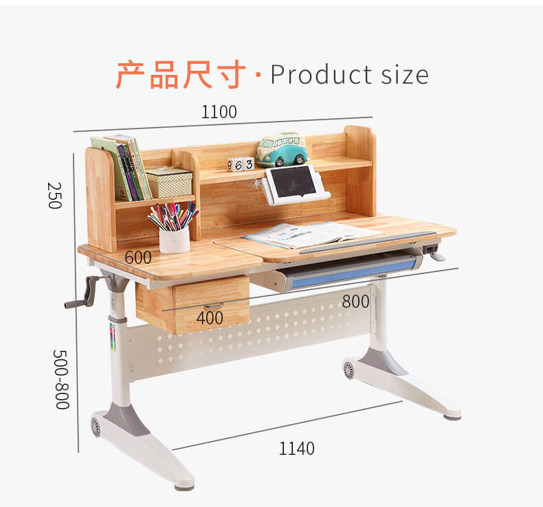 Xinyilong Furniture washable adjustable height children's desk manufacturer for school-1
